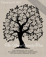 Family Tree Circles 41-50 Template 27
