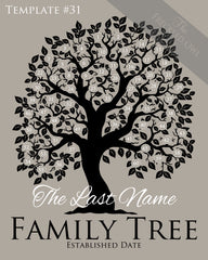 Family Tree Circles 51-60 Template 31