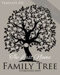 Family Tree Circles 51-60 Template 32