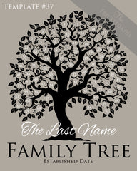 Family Tree Circles 61-70 Template 37