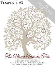 Family Tree Circles 1-10 Template 3