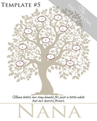 Family Tree Circles 1-10 Template 5