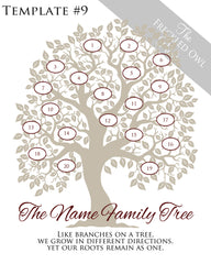 Family Tree Circles 11-20 Template 9