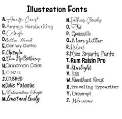 Portrait Illustration Fonts