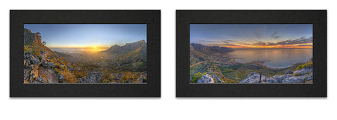 Lions Head Sunrise Sunset Print Set
