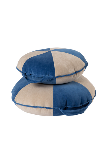 Blue & Beige Cookie Beanbag