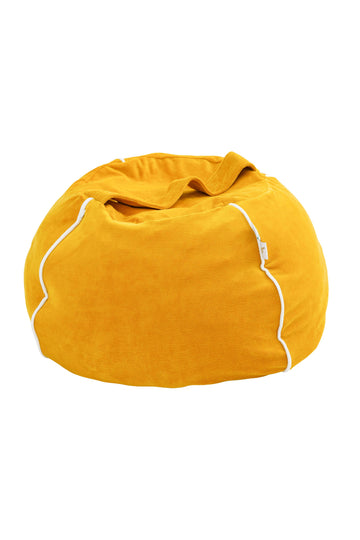 Bubble beanbag in velvet Mustard