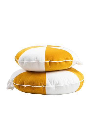 Cookie Beanbag Mustard & White