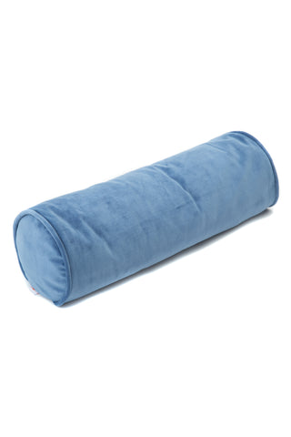 Roll cushion velvet deep blue