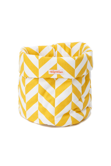 Toy Bag Herringbone Mustard