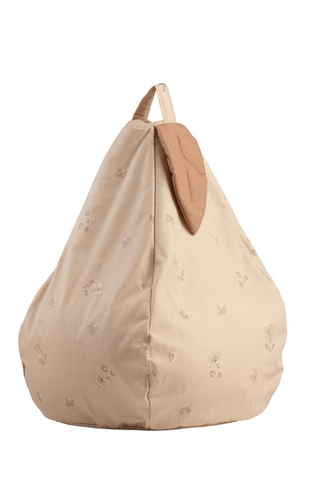 Powder Beige Leaf Beanbag