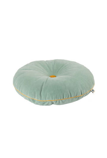 Jade Button Cushion