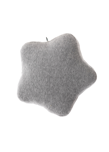 Grey little star cushion