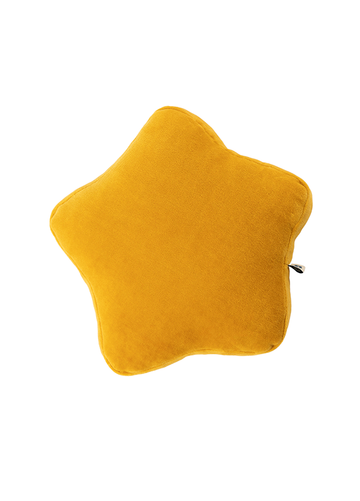 mustard little star cushion