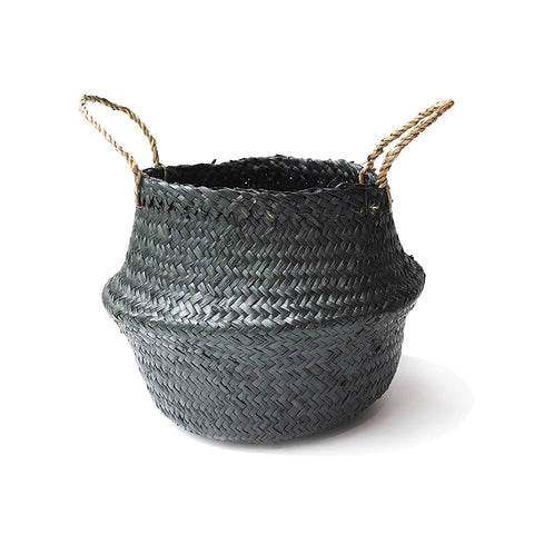 Handmade decoration black seagrass basket from Vietnam