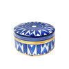 A decorative hand painted pot, can be used as a beautiful key or ring dish.