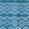 Blue and White patterned manta throw blanket made in Peru