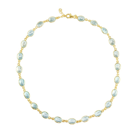 Blue Topaz Vivian Necklace