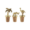 This set of golden brass animal bottle stopper for you wine bottles