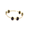Beautiful gold plated bracelets from Bohème, a brand now based in Singapore. White, black onyx and pink agate are used to give a classy style, made in india