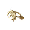 This golden brass elephant napkin rings are something needed when decorating the table for dinner or party