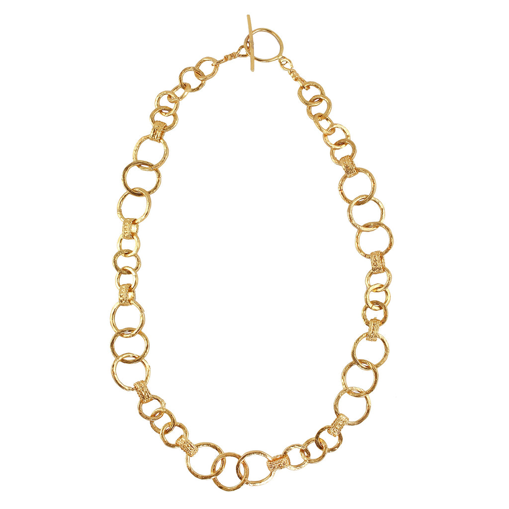 Turkish golden plated chains necklace