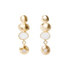 These cute and unique earrings made of gold plated sliver, with semi-precious stones such as Moonstones and Agate, from Bohème, a brand now based in Singapore.