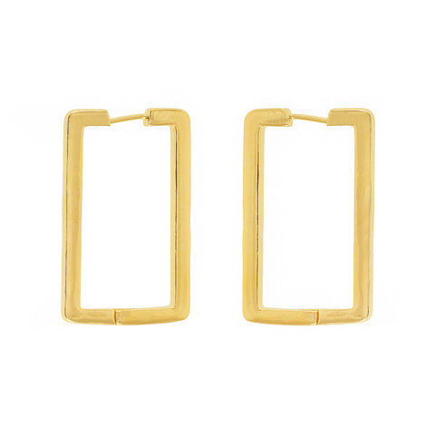 Golden earrings hopps brass 18 cart gold plated by Tay Jewellery