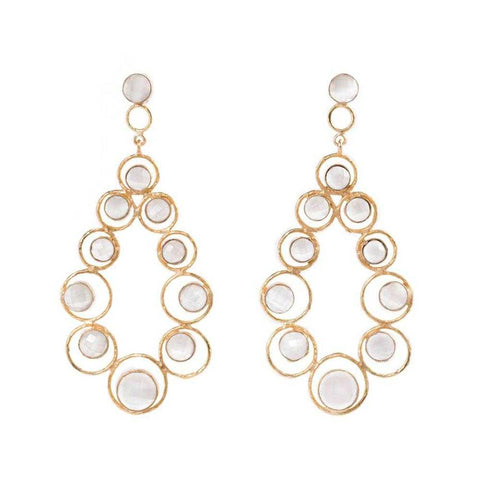 One of a kind sliver gold plated moonstone earrings from Bohème, a brand now based in Singapore. Great for dressing up in special occasions.