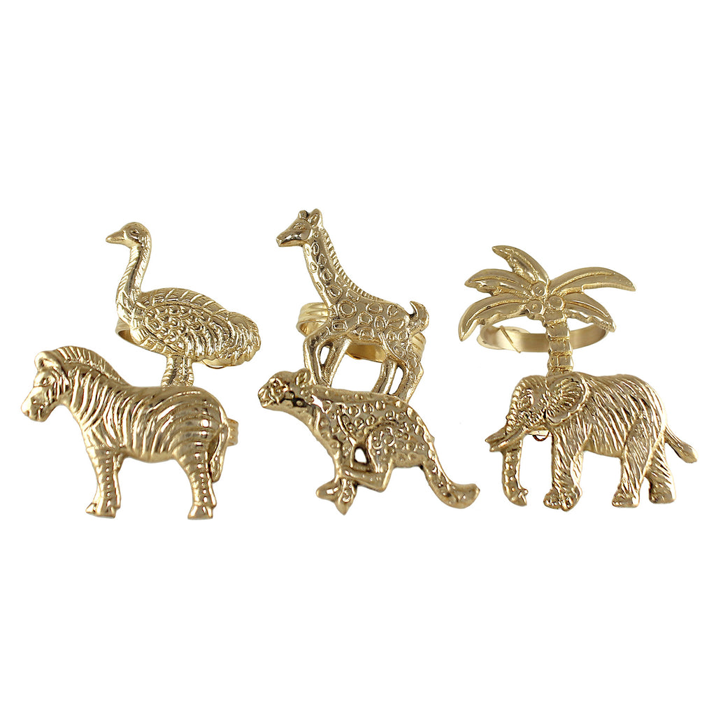 These golden brass animal napkin rings are something needed when decorating the table for dinner or party