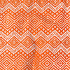 orange and White patterned manta throw blanket made in Peru