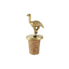 This cute little golden brass ostrich bottle stopper for you wine bottles
