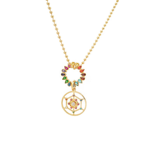 ALL PURPOSE GRID NECKLACE WITH CHAKRA WHEEL