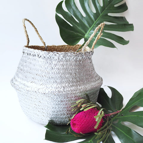 Sliver Seagrass Basket