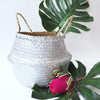 Handmade decoration sliver seagrass basket from Vietnam fold up