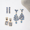 Small Kyanite cabochons stone staked together to create these light and fun gold plated earrings.