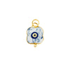This evil eye necklace is a modern interpretation of the classic evil eye made in Greece.  Get your necklace to ward of other people's evil thoughts about you. This necklace is handmade in Greece by artisans.
