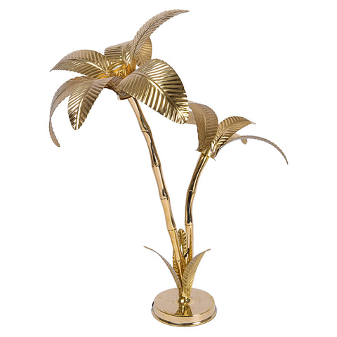 Golden Brass palm tree vintage lamp for decorating your living room, made in india