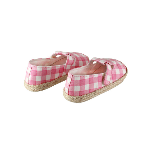 Mini Espadrilles Pink Check