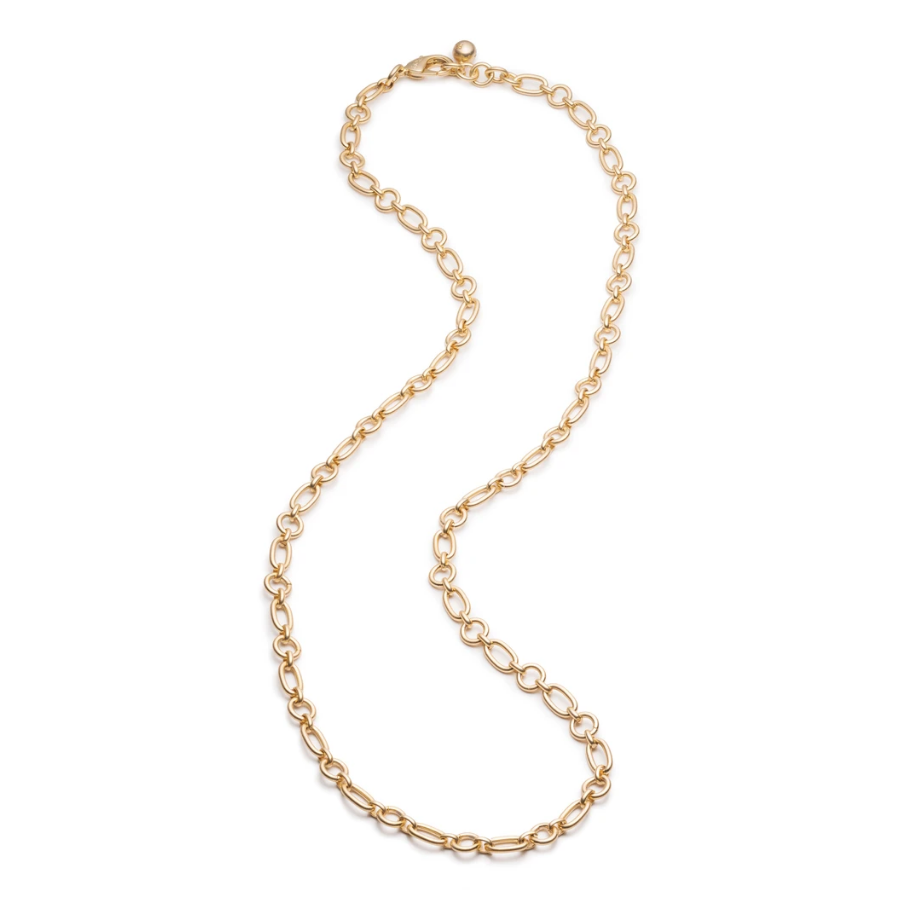 PLAZA OVAL & ROUND CHAIN NECKLACE