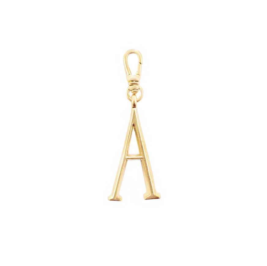 Lulu Frost Plaza Letter A in a smaller version of the original font from New York's iconic Plaza Hotel. Pair with one of the Plaza chain bases and add additional charms to create a special piece all your own.