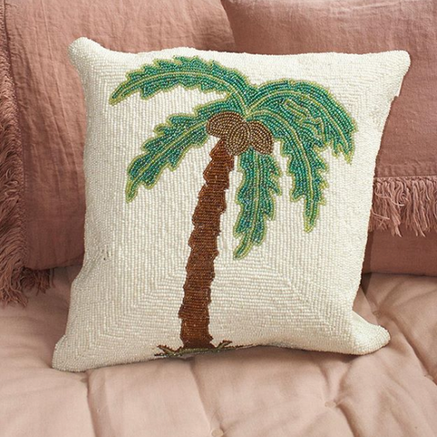 Coloured palm tree cushion with made of beads, definitely spice up your sofa in your living room