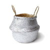 Handmade decoration sliver seagrass basket from Vietnam