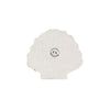 Small white glass beads shell coaster set for table decoration, made in india