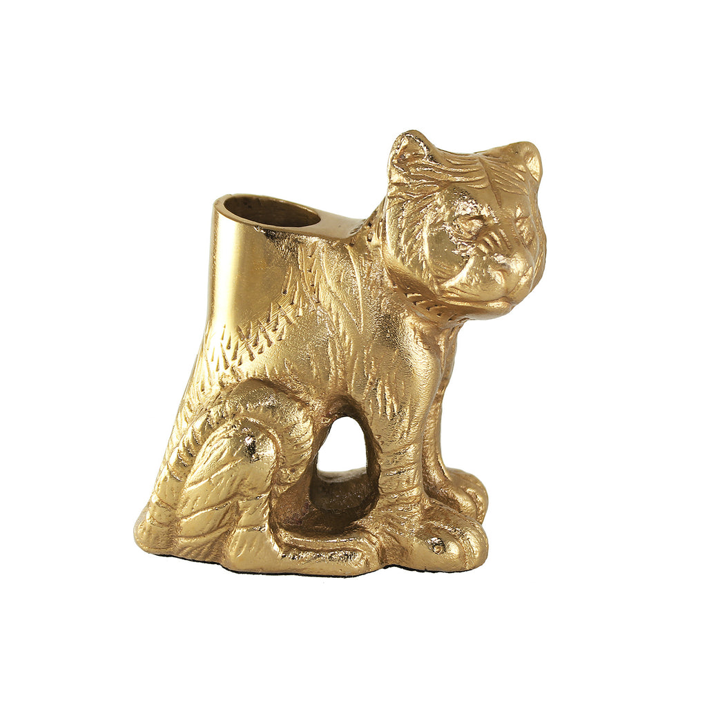 Sitting Tiger Candle Holder
