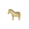 This golden brass zebra napkin ring is something needed when decorating the table for dinner or party