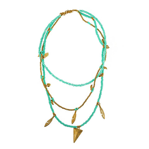 Turquoise Hippy Necklace