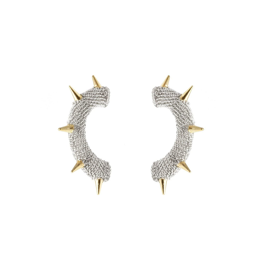 Channel your inner knight with these earrings reminiscent of chainmail.  For the girl who packs a punch.