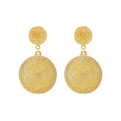 Mayan Calendar Earrings