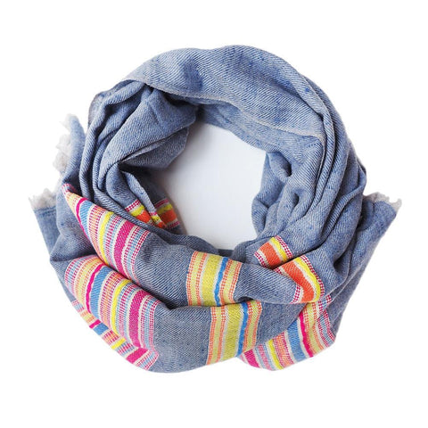 This gorgeous pashmina is comes from the Himalayan region of India.  Made out of the finest Ibex wool, it will keep you warm and add some colour to your dreary winter outfit, or keep the summer breeze at bay on cool summer nights.